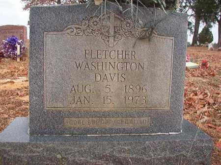 DAVIS, FLETCHER WASHINGTON - Columbia County, Arkansas | FLETCHER WASHINGTON DAVIS - Arkansas Gravestone Photos