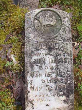 DAVIS, LUCINDA - Columbia County, Arkansas | LUCINDA DAVIS - Arkansas Gravestone Photos