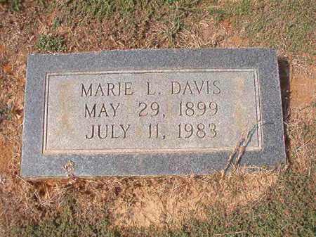 DAVIS, MARIE L - Columbia County, Arkansas   MARIE L DAVIS - Arkansas Gravestone Photos