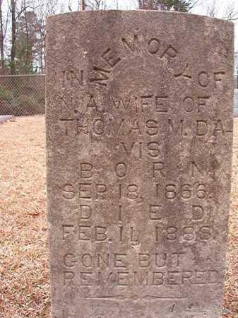 DAVIS, N A - Columbia County, Arkansas   N A DAVIS - Arkansas Gravestone Photos