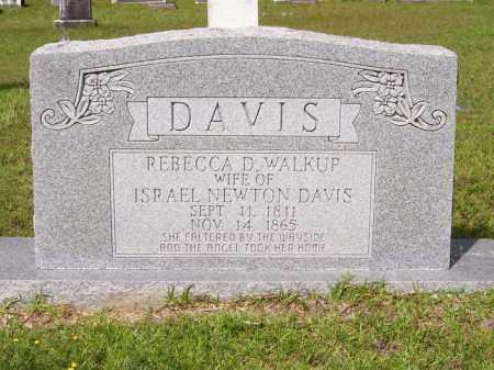 WALKUP DAVIS, REBECCA D - Columbia County, Arkansas | REBECCA D WALKUP DAVIS - Arkansas Gravestone Photos