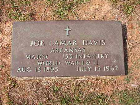 DAVIS (VETERAN 2 WARS), JOE LAMAR - Columbia County, Arkansas | JOE LAMAR DAVIS (VETERAN 2 WARS) - Arkansas Gravestone Photos