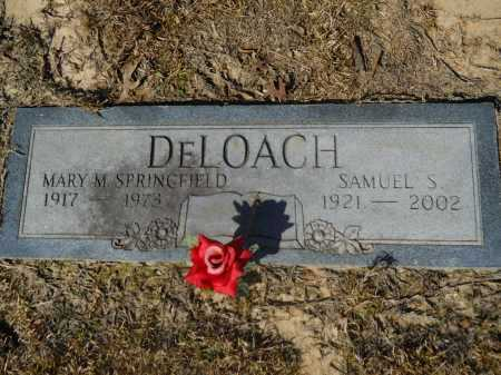 DELOACH, SAMUEL S - Columbia County, Arkansas | SAMUEL S DELOACH - Arkansas Gravestone Photos