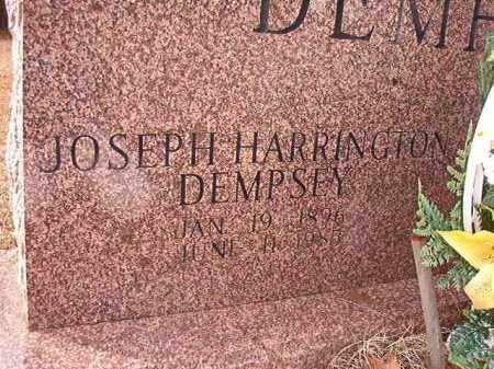 DEMPSEY, JOSEPH HARRINGTON - Columbia County, Arkansas   JOSEPH HARRINGTON DEMPSEY - Arkansas Gravestone Photos