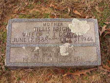 BRIGHT DEMPSEY, TILLIS - Columbia County, Arkansas | TILLIS BRIGHT DEMPSEY - Arkansas Gravestone Photos