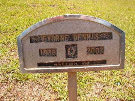 DENNIS, EVORNE - Columbia County, Arkansas   EVORNE DENNIS - Arkansas Gravestone Photos