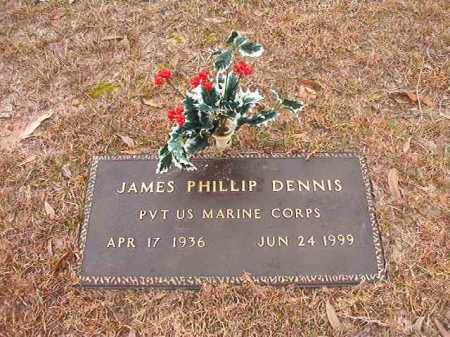 DENNIS (VETERAN), JAMES PHILLIP - Columbia County, Arkansas | JAMES PHILLIP DENNIS (VETERAN) - Arkansas Gravestone Photos