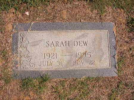 DEW, SARAH - Columbia County, Arkansas | SARAH DEW - Arkansas Gravestone Photos