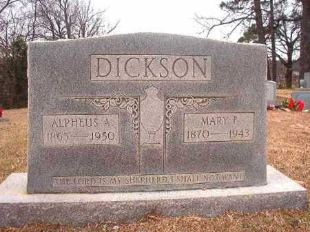 DICKSON, MARY F - Columbia County, Arkansas | MARY F DICKSON - Arkansas Gravestone Photos