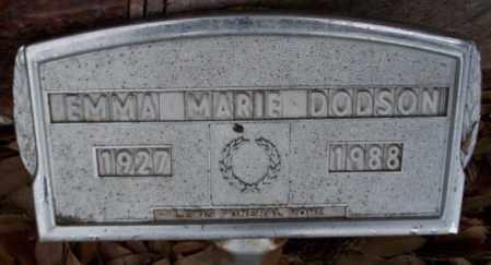DODSON, EMMA MARIE - Columbia County, Arkansas | EMMA MARIE DODSON - Arkansas Gravestone Photos