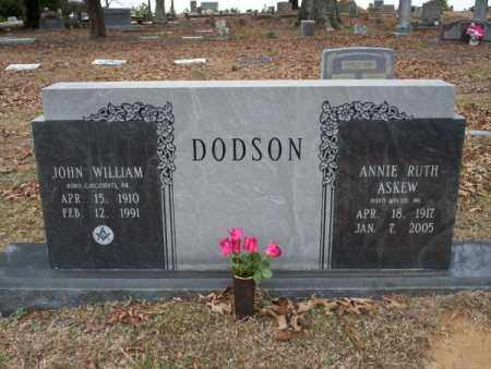 DODSON, JOHN WILLIAM - Columbia County, Arkansas | JOHN WILLIAM DODSON - Arkansas Gravestone Photos