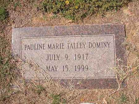 TALLEY DOMINY, PAULINE MARIE - Columbia County, Arkansas | PAULINE MARIE TALLEY DOMINY - Arkansas Gravestone Photos