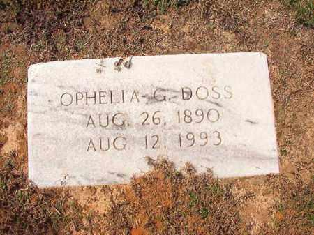 DOSS, OPHELIA G - Columbia County, Arkansas | OPHELIA G DOSS - Arkansas Gravestone Photos