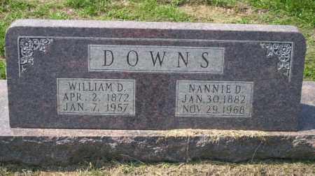 DOWNS, NANNIE D - Columbia County, Arkansas | NANNIE D DOWNS - Arkansas Gravestone Photos