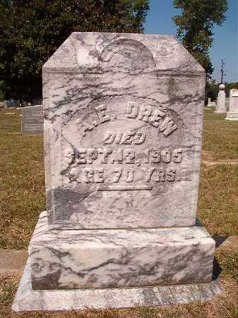 DREW, A E - Columbia County, Arkansas   A E DREW - Arkansas Gravestone Photos