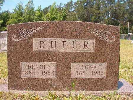 DUFUR, LONA - Columbia County, Arkansas | LONA DUFUR - Arkansas Gravestone Photos