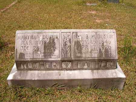 DUFUR, MARTHA V - Columbia County, Arkansas | MARTHA V DUFUR - Arkansas Gravestone Photos