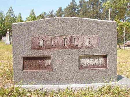 DUFUR, WILLIAM F - Columbia County, Arkansas   WILLIAM F DUFUR - Arkansas Gravestone Photos
