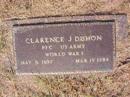 DUHON (VETERAN WWI), CLARENCE J - Columbia County, Arkansas | CLARENCE J DUHON (VETERAN WWI) - Arkansas Gravestone Photos