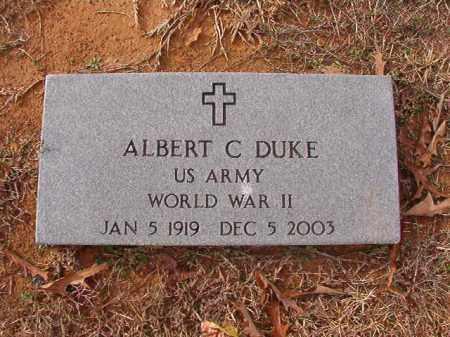 DUKE (VETERAN WWII), ALBERT C - Columbia County, Arkansas   ALBERT C DUKE (VETERAN WWII) - Arkansas Gravestone Photos