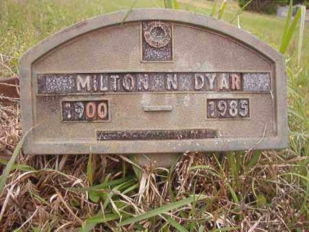 DYAR, MILTON N - Columbia County, Arkansas | MILTON N DYAR - Arkansas Gravestone Photos