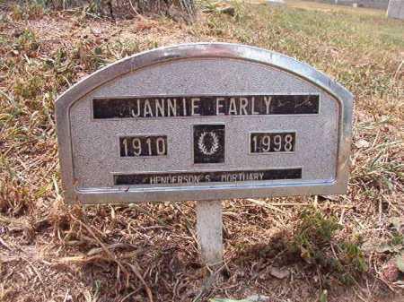 EARLY, JANNIE - Columbia County, Arkansas | JANNIE EARLY - Arkansas Gravestone Photos