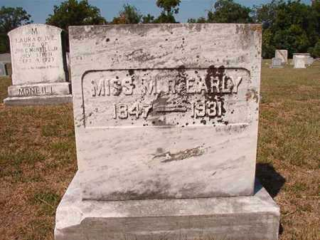 EARLY, MISS, M R - Columbia County, Arkansas   M R EARLY, MISS - Arkansas Gravestone Photos