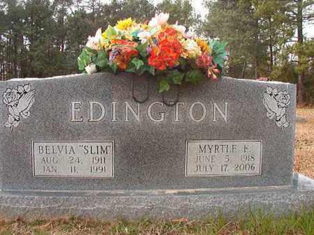 EDINGTON, MYRTLE F - Columbia County, Arkansas | MYRTLE F EDINGTON - Arkansas Gravestone Photos