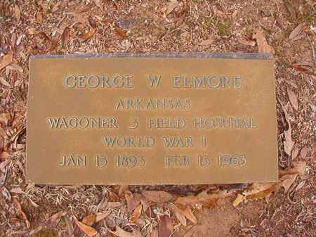 ELMORE (VETERAN WWI), GEORGE W - Columbia County, Arkansas | GEORGE W ELMORE (VETERAN WWI) - Arkansas Gravestone Photos