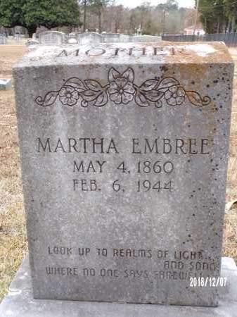 EMBREE, MARTHA - Columbia County, Arkansas | MARTHA EMBREE - Arkansas Gravestone Photos