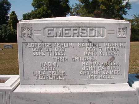 KERLIN EMERSON, FLORENCE - Columbia County, Arkansas | FLORENCE KERLIN EMERSON - Arkansas Gravestone Photos