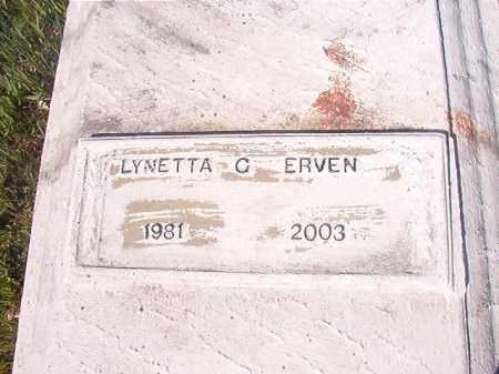 ERVEN, LYNETTA C - Columbia County, Arkansas   LYNETTA C ERVEN - Arkansas Gravestone Photos