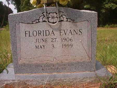 EVANS, FLORIDA - Columbia County, Arkansas | FLORIDA EVANS - Arkansas Gravestone Photos