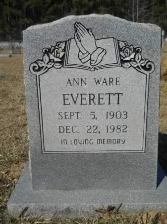 WARE EVERETT, ANN - Columbia County, Arkansas | ANN WARE EVERETT - Arkansas Gravestone Photos