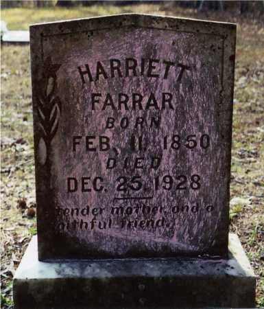 FARRAR, HARRIETT - Columbia County, Arkansas   HARRIETT FARRAR - Arkansas Gravestone Photos