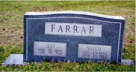 WALLER FARRAR, SALLIE - Columbia County, Arkansas | SALLIE WALLER FARRAR - Arkansas Gravestone Photos