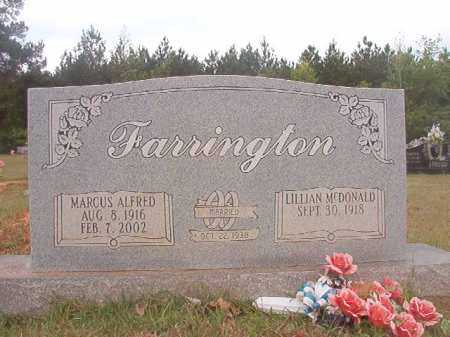 FARRINGTON, MARCUS ALFRED - Columbia County, Arkansas   MARCUS ALFRED FARRINGTON - Arkansas Gravestone Photos