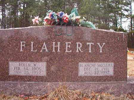 FLAHERTY, ROLLIE W - Columbia County, Arkansas | ROLLIE W FLAHERTY - Arkansas Gravestone Photos