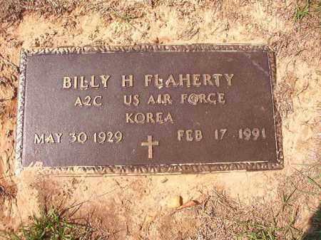 FLAHERTY (VETERAN KOR), BILLY H - Columbia County, Arkansas | BILLY H FLAHERTY (VETERAN KOR) - Arkansas Gravestone Photos