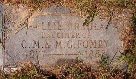FOMBY, NELLIE URSULA - Columbia County, Arkansas   NELLIE URSULA FOMBY - Arkansas Gravestone Photos