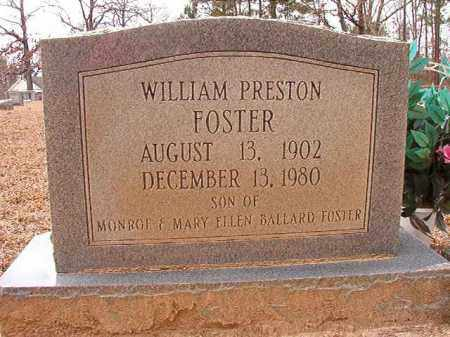 FOSTER, WILLIAM PRESTON - Columbia County, Arkansas | WILLIAM PRESTON FOSTER - Arkansas Gravestone Photos
