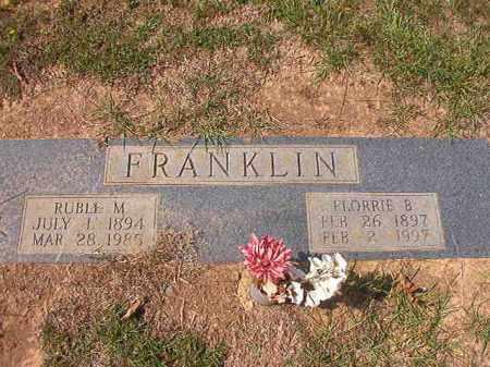 FRANKLIN, FLORRIE B - Columbia County, Arkansas | FLORRIE B FRANKLIN - Arkansas Gravestone Photos