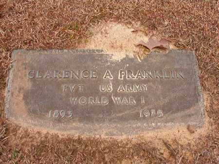 FRANKLIN (VETERAN WWI), CLARENCE A - Columbia County, Arkansas | CLARENCE A FRANKLIN (VETERAN WWI) - Arkansas Gravestone Photos