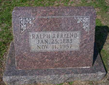 FRIEND, RALPH J - Columbia County, Arkansas | RALPH J FRIEND - Arkansas Gravestone Photos