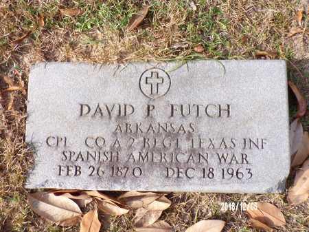 FUTCH (VETERAN SAW), DAVID P - Columbia County, Arkansas | DAVID P FUTCH (VETERAN SAW) - Arkansas Gravestone Photos