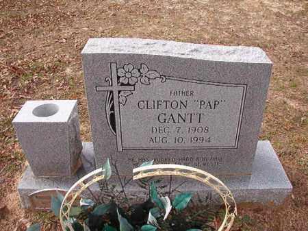 "GANTT, CLIFTON ""PAP"" - Columbia County, Arkansas   CLIFTON ""PAP"" GANTT - Arkansas Gravestone Photos"