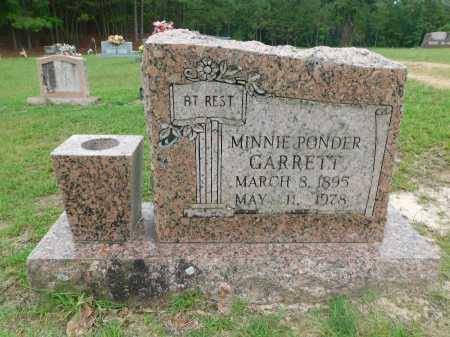 PONDER GARRETT, MINNIE - Columbia County, Arkansas | MINNIE PONDER GARRETT - Arkansas Gravestone Photos