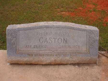GASTON, PHILLIP HENRY - Columbia County, Arkansas | PHILLIP HENRY GASTON - Arkansas Gravestone Photos