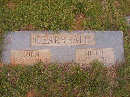 GEARREALD, MINNIE - Columbia County, Arkansas | MINNIE GEARREALD - Arkansas Gravestone Photos