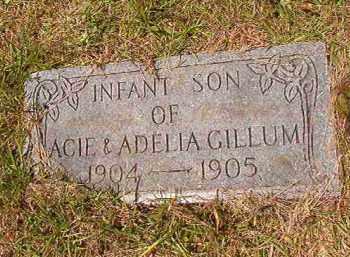 GILLUM, INFANT SON - Columbia County, Arkansas | INFANT SON GILLUM - Arkansas Gravestone Photos
